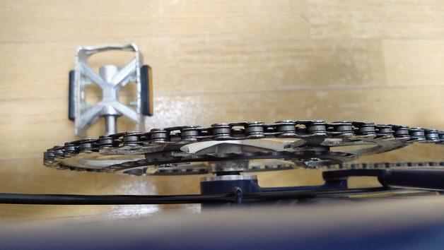 ブロンプトン手変速フロントダブル仕様 チェーンリング部分