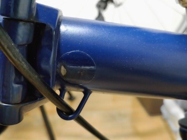 ブロンプトン塗装剥げにフレームプロテクター
