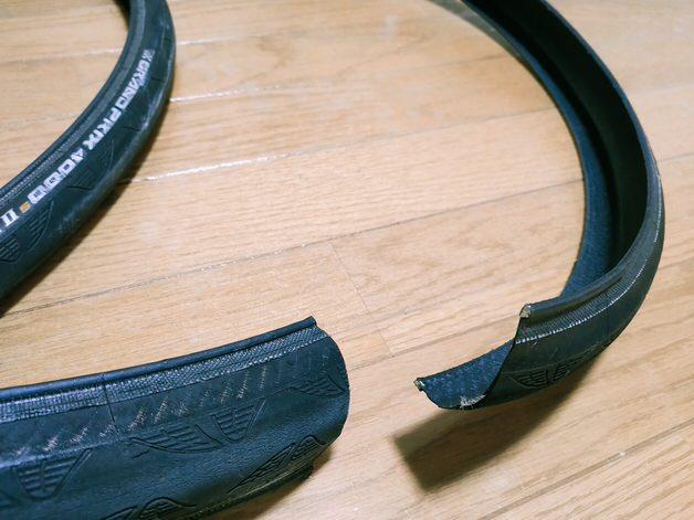 タイヤ断面図