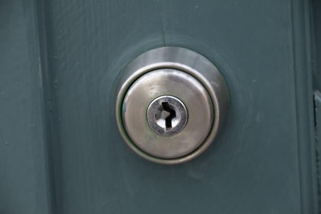 ディスクシリンダー鍵の穴