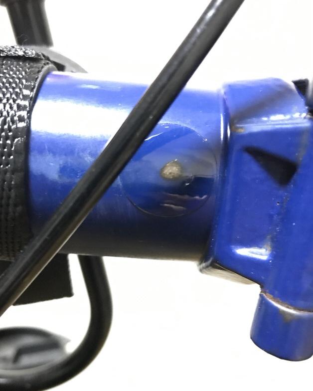 フレームに貼られたフレームプロテクター