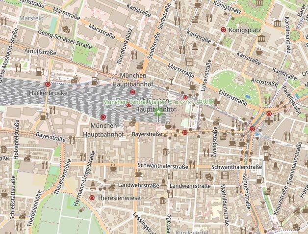 OpenStreetMapの海外地図