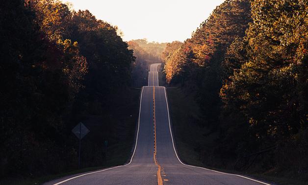 壮大な坂道