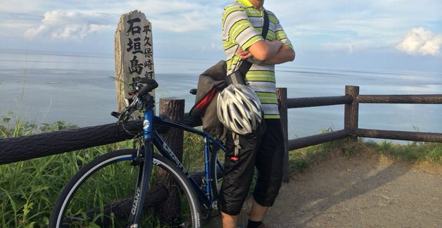 石垣島最北端まで走ったとき