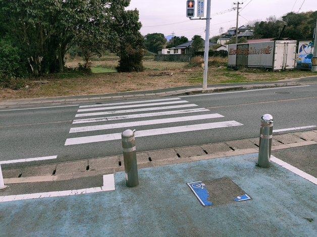 遠賀宗像自転車道 途切れる場所