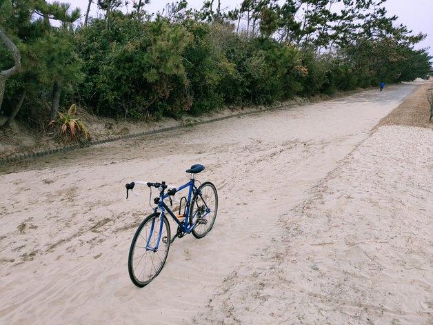 砂で埋まった道