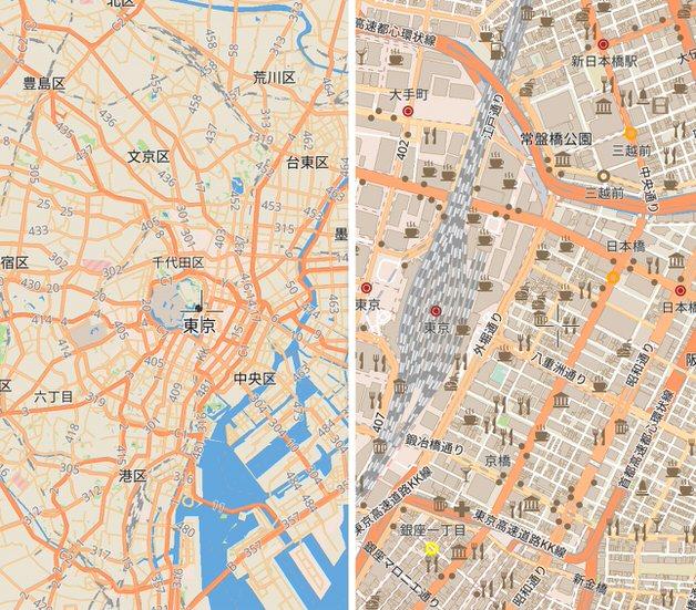 OpenStreetMapの地図例