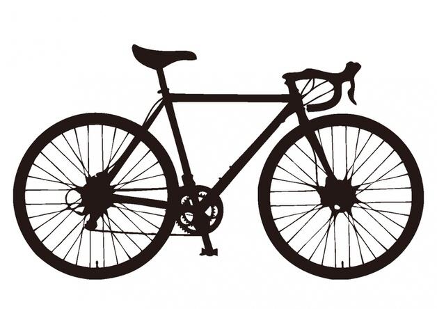 ロードバイクのシルエット