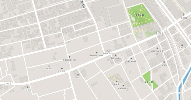 STRAVAからOpenStreetMapの地図例
