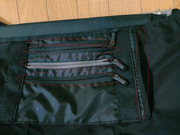 表面側のポケット
